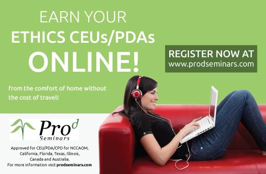 Earn Online Ethics CEU PDAs